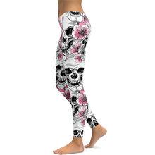 11597caf52dfe JIGERJOGER 2017 Christmas holiday sweatpants Plus size XL 3D print Pink  SKULL Forest roses women's yoga pants gym sports legging
