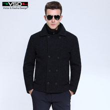 Winter Business Woolen Double Breasted Cotton Patted Overcoat Coat Outwear Placket Detachable Sobretudo Palto Casual Jacket Men(China)