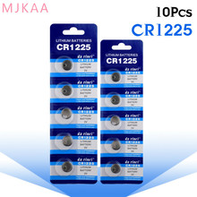 10pcs/pack CR1225 Button Batteries LM1225 BR1225 KCR1225 Cell Coin Lithium Battery 3V CR 1225 For Watch Electronic Toy Remote