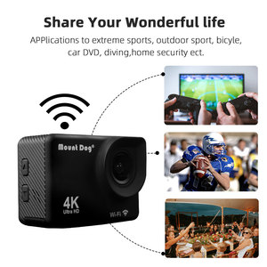 Image 5 - Go Pro Accessories Ultra HD 4K Sport Action Video Camera WiFi 30fps 170D Waterproof Cam Head Chest strap Belt Camera Recorder