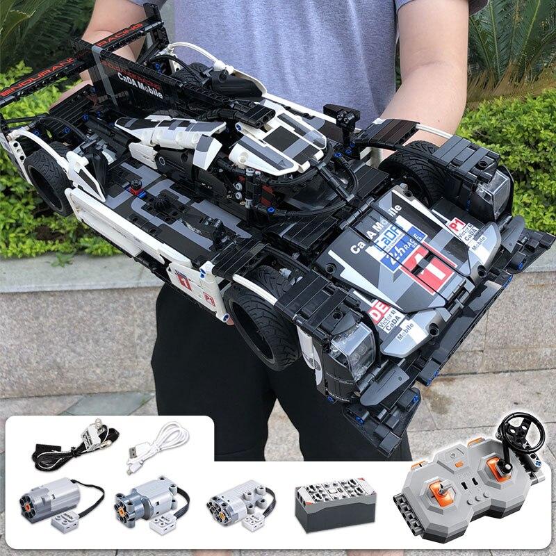 CADA Endurance RC Car Bricks Compatible Legoingly Technic MOC Model Building Blocks Remote Control Car Racing Toys For Children
