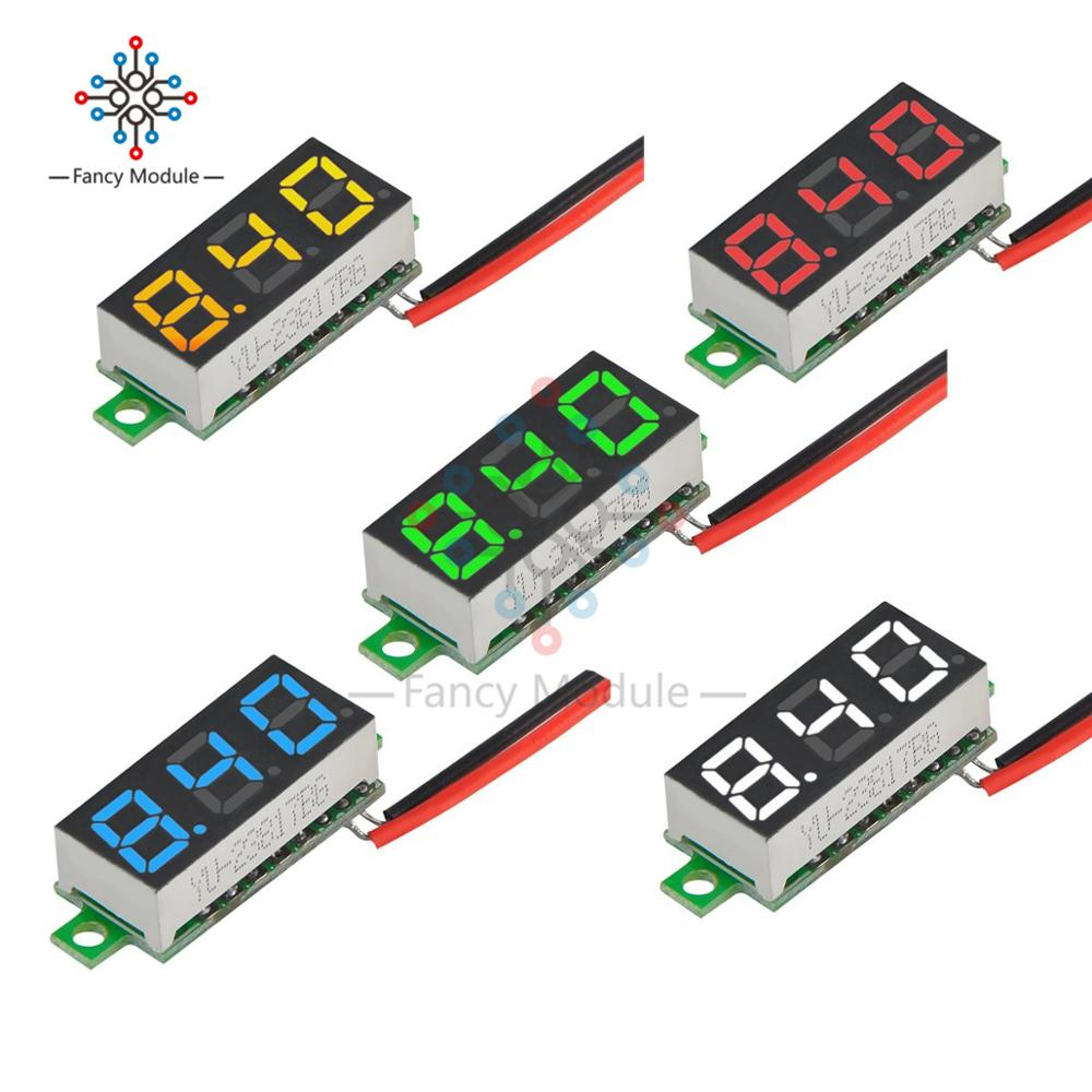 1pcs 0.28 Inch 2.5V-30V Mini Digital Voltmeter Voltage Tester Meter LED Screen Electronic Parts Accessories Digital Voltmeter