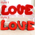 120*40cm Giant LOVE Letters Plush Pillows Stuffed Toy Letters Shape Pillow Baby Toys Home Decor Birthday Valentine' s Day Gift