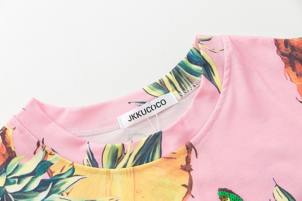 HTB18920QVXXXXXKXpXXq6xXFXXXe - Top Hot Sequined Print Pineapple Women t shirt Short Sleeve