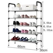 Стеллаж хранение обуви прихожей шкаф Органайзер держатель 3/4/5 слоев собрать обуви Полка для дома Гостиная мебель полки для обуви