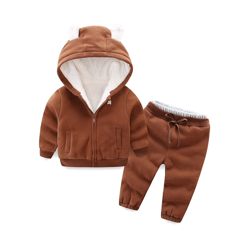 Children Winter velvet warm Clothing set Girls boys fleece Hoodies+Pants Kids Tracksuit Sport Suit child winter Clothes kids clothes autumn winter boys gold velvet clothing set school children warm thicken sport suit fashion kids tracksuit