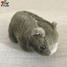цены Simulation Plush Wombat Guinea Pig Cavia Porcellus Toy Stuffed Wild Animal Doll Toys Baby Kids Children Gift Home Shop Decor