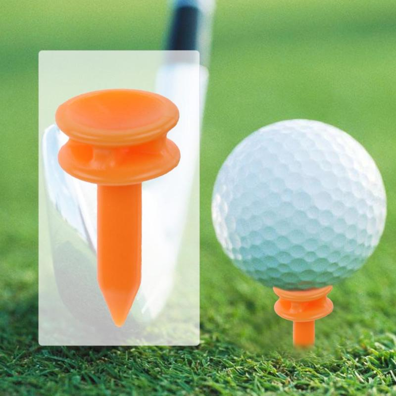 100pcs Portable Mini Golf Tees Plastic 25mm Length Golf Nail Limit Pin Outdoor Golf Training Aids For Golfer Essential Accessory