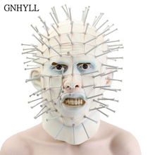 GNHYLL Adult Cosplay Realistic Latex Party Masks Halloween Mask Horror Movie Hellraiser Scary Pinhead Grimace Monster