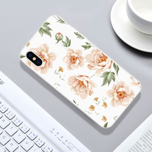 Transparent Flower Print Phone Case for iPhone X 6 6s 7 8 Plus XR XS Max Plants Soft TPU Rubber Silicon Cover Capa