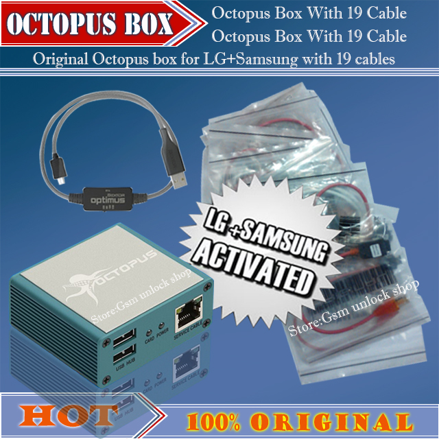 Original Octopus box Full activated for LG and for Samsung 19cables including optimus Cable Set Unlock Flash & Repair Tool