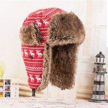 Delle donne Degli Uomini di Cappelli invernali e con pelliccia Unisex  Carino Cervi Imbottito Paraorecchie Caldo cappello Lei . b3c96a5be5e5
