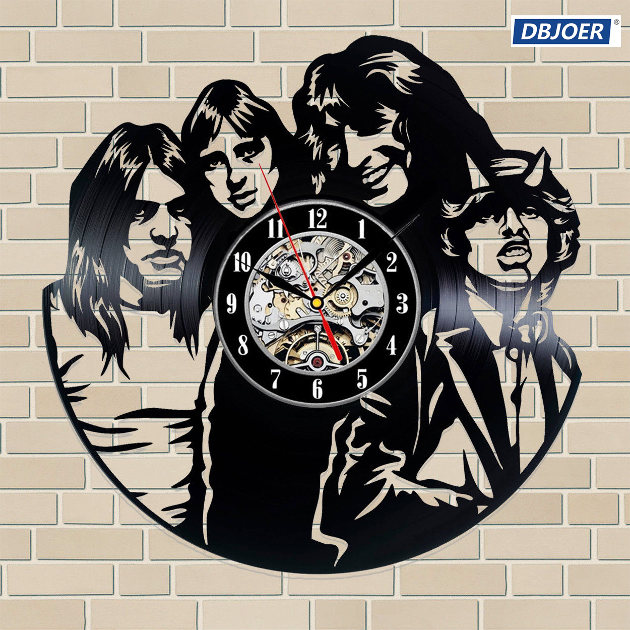 AC / DC Vinyl Record Wall Clock great gift idea for music fans AC DC wall clock -7 style