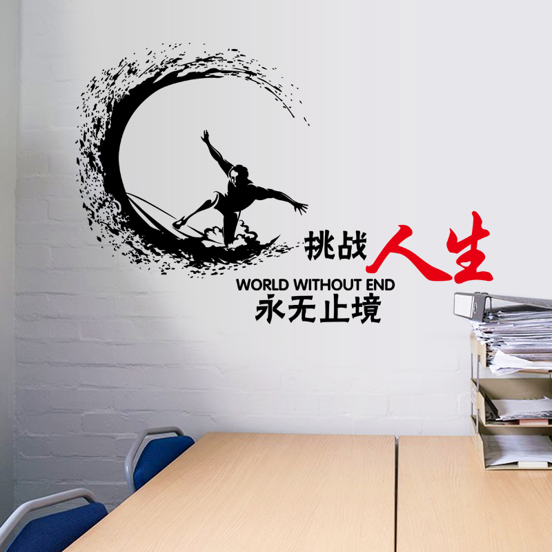 [Fundecor] World Without End Characters wall stickers vinyl decals office living room bedroom window home decoration diy murals