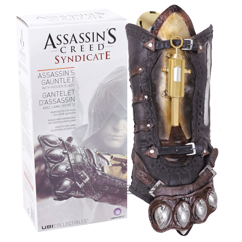 Assassin's Creed Action Figures Weapon Syndicate Gauntlet With Hidden Blace 1:1 PVC Anime Game Assassin Creed Model Toys assassins creed connor action figure iii game toys assassin creed 260mm pvc anime collectible action figures assassin creed toy