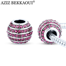 CZ Crystal Charms Original Diy Crystal Beads Fit DIY Bracelet For Women Fashion European Jewelry Luxury Zircon Charms