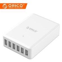 ORICO универсальное USB зарядное устройство 6 портов смарт-зарядное устройство 5V2. 4A Max выход 50 Вт/10A мобильный телефон настольное зарядное устройство для iPhone Nexus Xiaomi