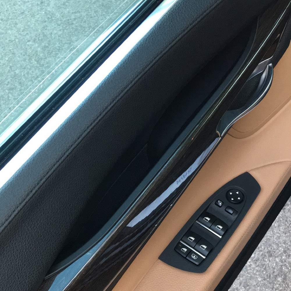 1xCarbon Fiber Front Left Inner Door Handle Cover Trim Fit for BMW 730 750 760