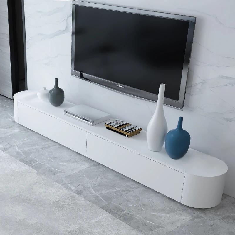 meuble tv moderne minimaliste mode creative petit appartement salon en verre trempe peint meuble tv