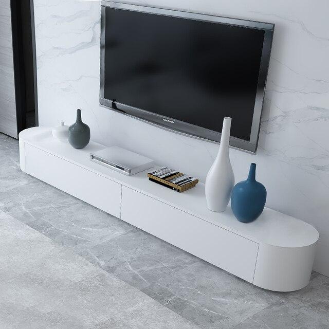 TV Cabinet Modern Minimalist Fashion Creative Minimalist Small Apartment Living  Room Painted Tempered Glass TV Cabinet