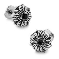 SPARTA White Gold Electroplated Macedonia royalty Crystal Cufflinks men's Cuff Links + Free Shipping !!! metal buttons