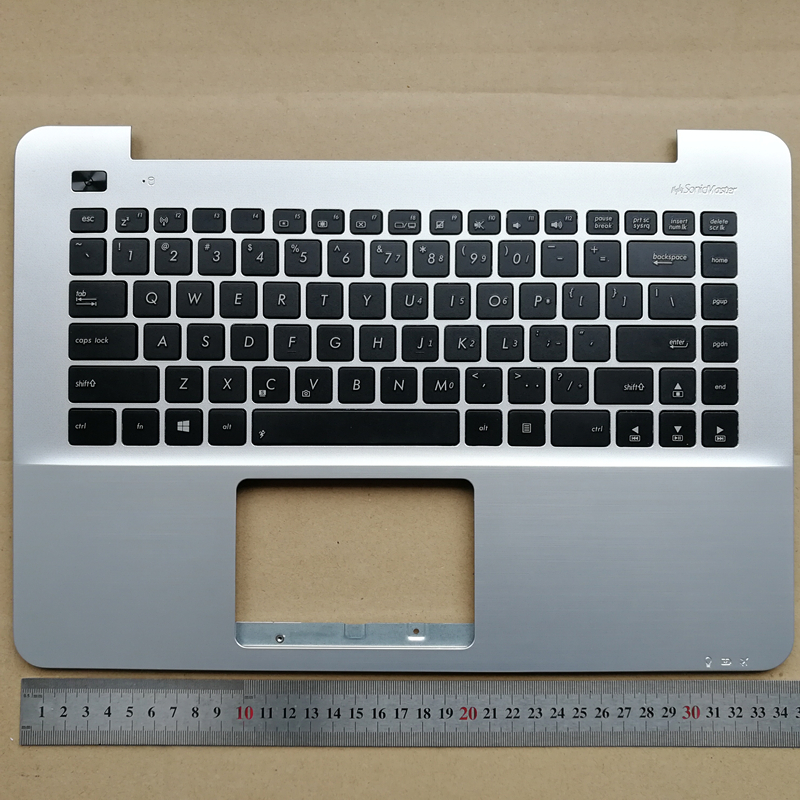 US New laptop keyboard with palmrest upper case for ASUS F455 A455L K455 X455L R455L W419L Y483L sliver