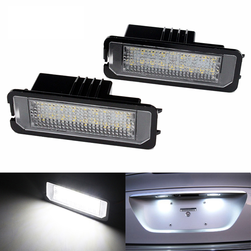 2pcs/lot Car Canbus 18 LED Number License Plate Light Lamp for VW Amarok Eos Golf New Beetle Polo Passat CC Phaeton Scirocco no error car led license plate light number plate lamp bulb for vw touran passat b6 b5 5 t5 jetta caddy golf plus skoda superb