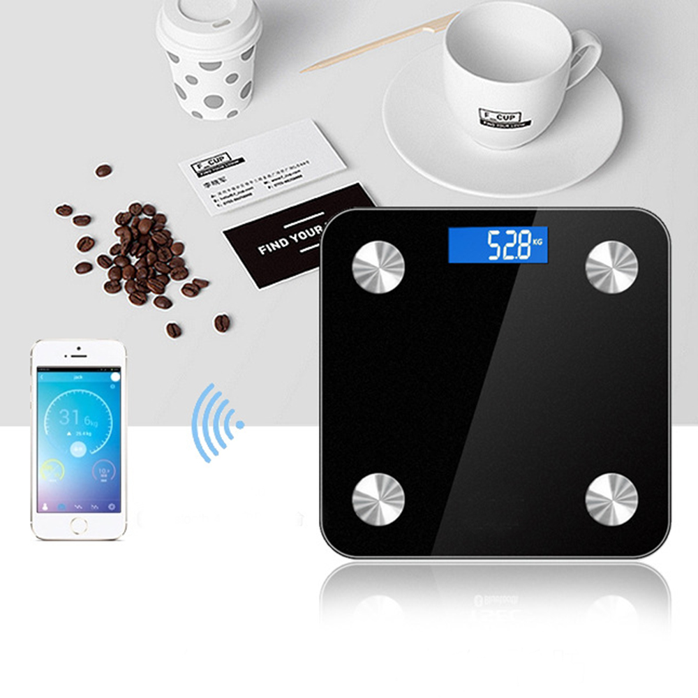 Body Fat Smart Scale Bluetooth 4.0 Digital Scale LED Display Smart Body Fat Scale y9000 smart body fat scale digital bathroom scale