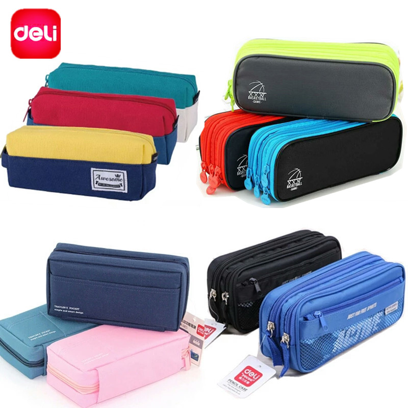Deli Large Capacity Pencil Case/Bag/Box For Boys Girls School Students Multifunction Big Pencil Stationary Store School Chancery deli 0620 manual pencil sharpener heavy duty quiet for office home and school school chancery stationery desk clamp included