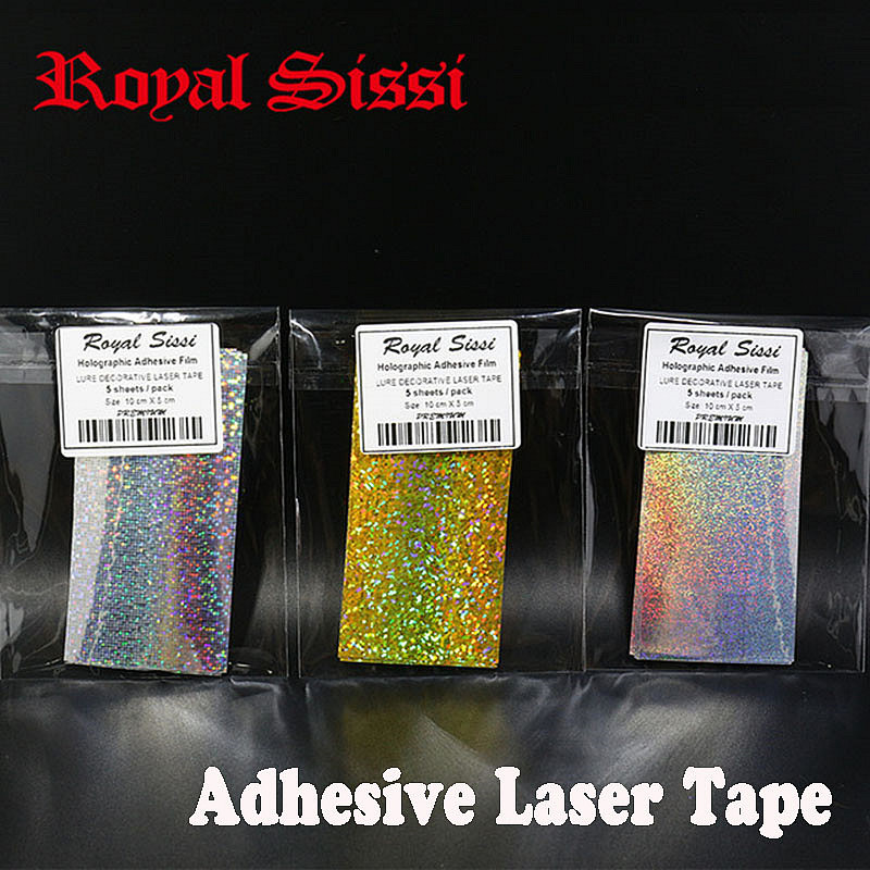 Hot 5 pieces 10cm X 5cm Fly Tying Laser Rainbow Film Holographic Adhesive Film Flash Tape For Lure Making Fly Tying Materials 10 pieces 10 x 5 5 cm fly tying rainbow film sabiki rig shrimp back wings scud nymph tying clear flash film fly tying materials