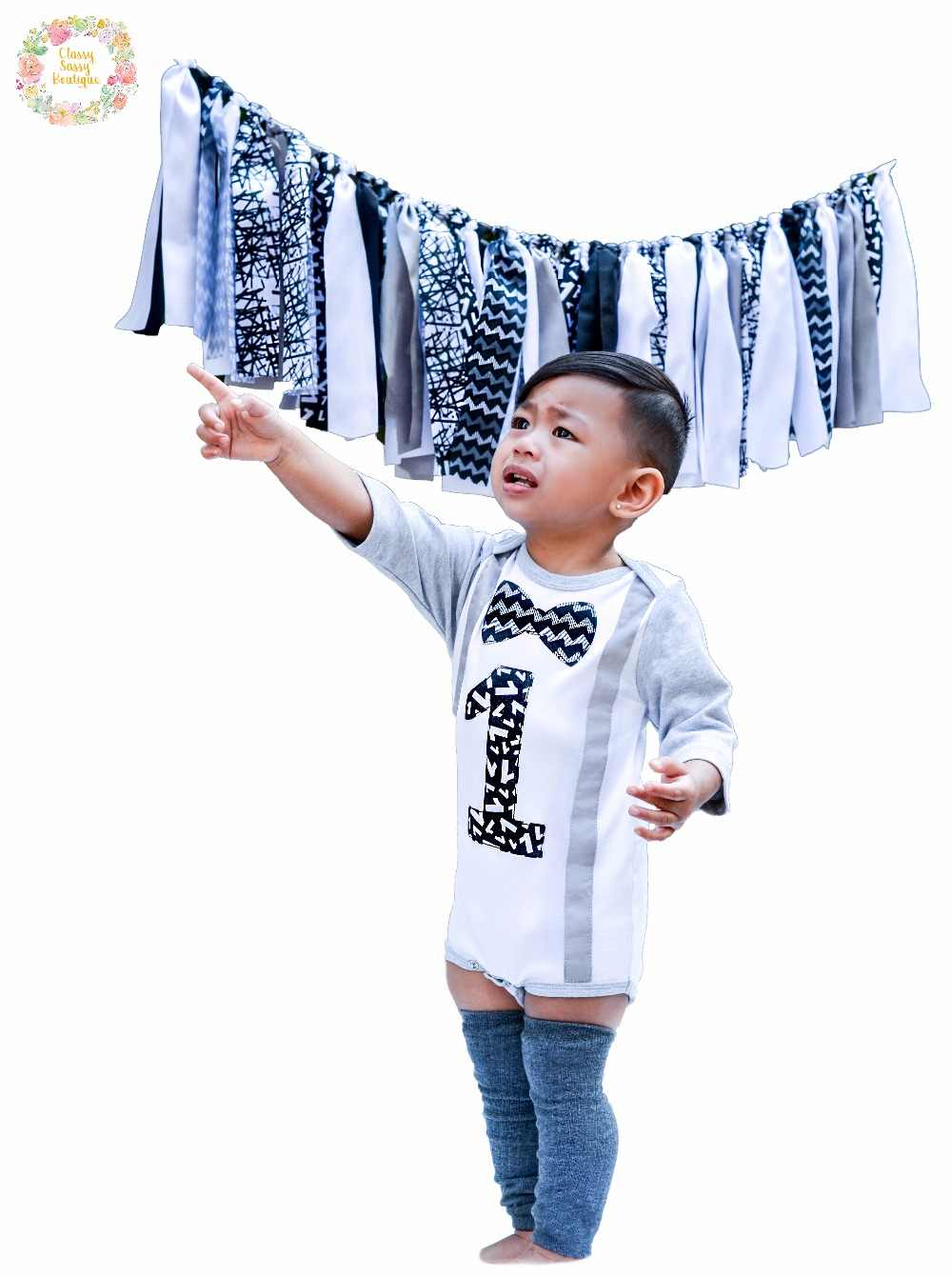 17879d63a Detail Feedback Questions about First B Day Cake Smash Romper 1st Birthday  Baby Boy Onesie Outfit with Leg Warmers and Banner Classy Black White Party  on ...