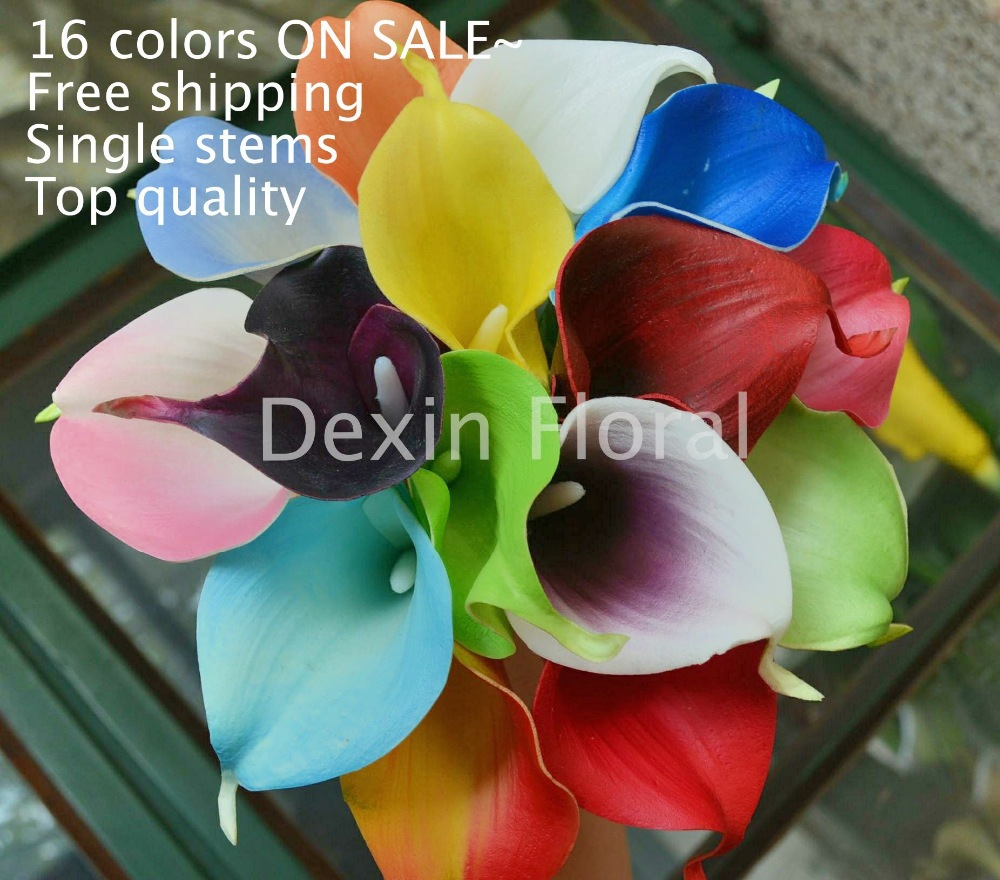 Multi Colors 18pcslot Real Touch Flowers Calla Lily For Wedding