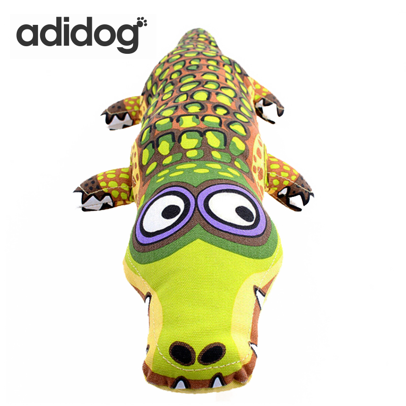 39 * 15cm Cartoon Crocodile Shape Canvas Dog Toy Puppy Sound Chew Leksaker För Chihuahua Small Large Dogs Pet Product adidog