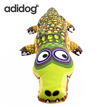 39*15cm Cartoon Crocodile Shape Canvas Dog Toy Puppy Sound Chew Toys For Chihuahua Small Large Dogs Pet Product adidog
