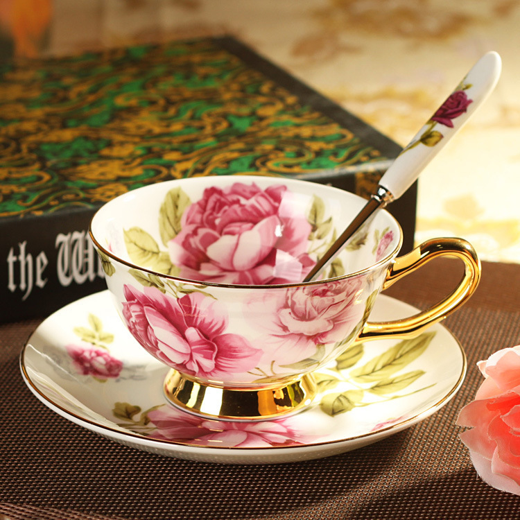 Creative Gift Kitchen Tea <font><b>Set</b></font> Bone China <font><b>Coffee</b></font> <font><b>Cup</b></font> Advanced Drinkware Ceramic <font><b>Cups</b></font> And Saucers Free Shipping ZCP-511 image