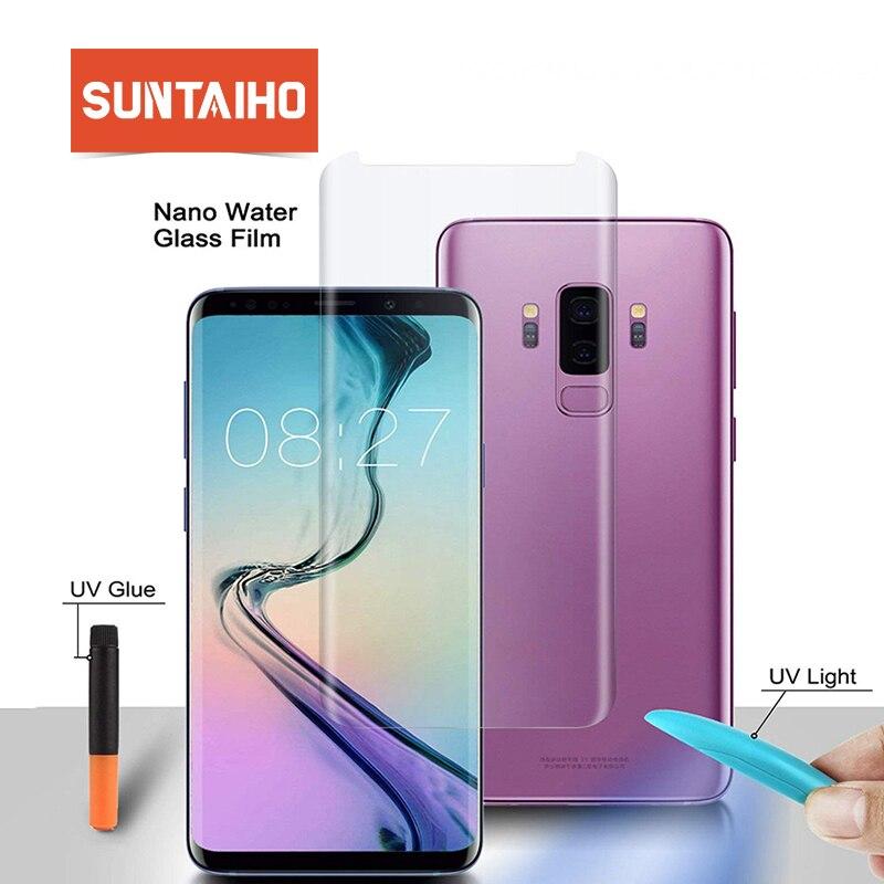 Suntaiho UV Flüssigkeit voll Kleber vollständig adsorbiert Gehärtetem Glas für Samsung note9 note8 Galaxy S9 S8plus Nano UV Screen Protector
