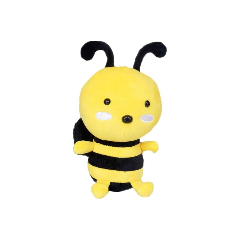 1db 25cm Bee Plüss Játéktömés Baba Sárga aranyos Bee Toy Baba - Babák és puha játékok