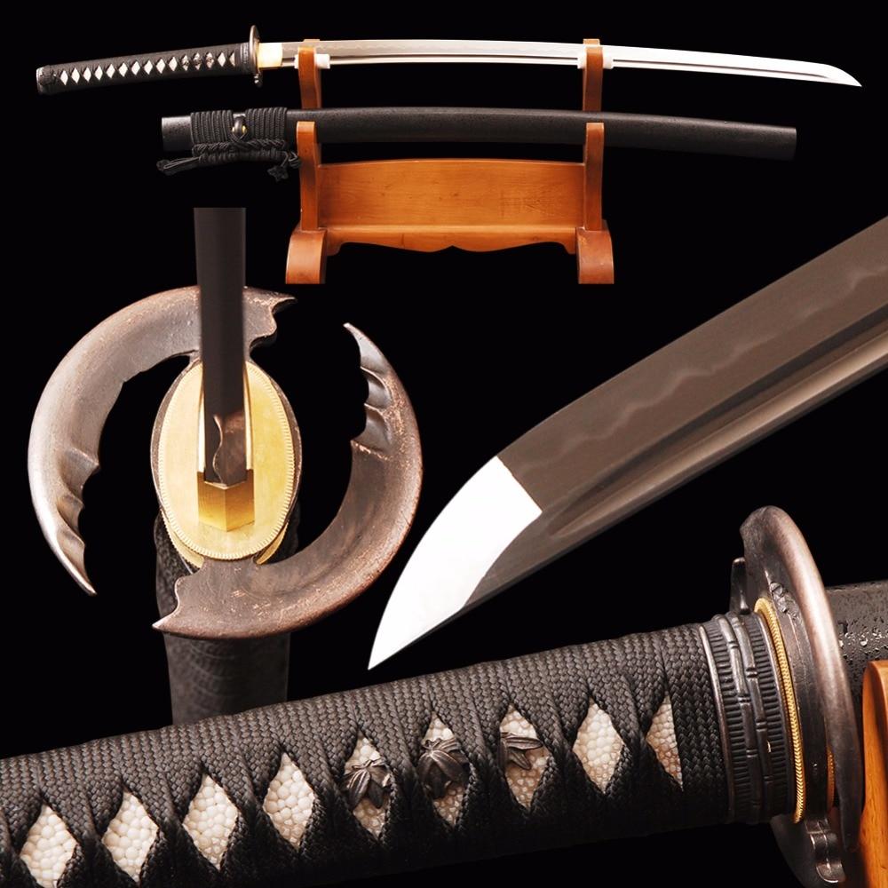 Brandon Swords Vintage Samurai Sword 1095 Carbon Steel Clay Tempered - სახლის დეკორაცია - ფოტო 1