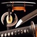 Brandon espadas Vintage Espada Samurai de acero al carbono 1095 arcilla templada hoja completa Tang hecho a mano, borde afilado Real japonés Katana