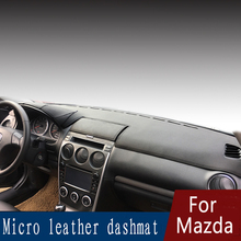 цена на For Mazda8 Mazda 8 cx-7 mazd2 323 Leather Dashmat Dashboard Cover Prevent Sunlight Pad Dash Mat 2007 2008 2009 2013 2014 2016