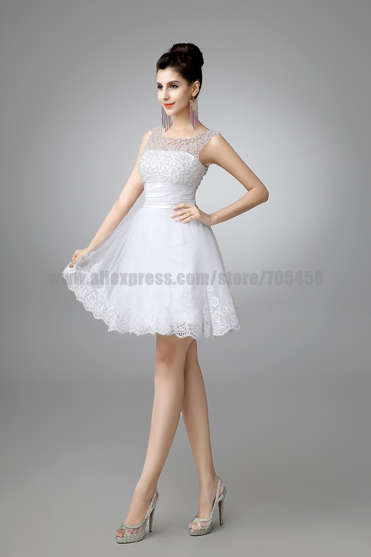 pd V Neck Satin Beaded Bodice Elegant Ivory Short Informal Bridal Gowns UK short ivory wedding dresses V Neck Satin Beaded Bodice Elegant Ivory Short Informal Bridal Gowns UK