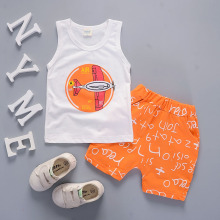 childrens clothing summer 2018 boys 2 piece set letter print cotton sleeveless vest suit infant clothes sport sets boy