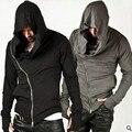 2016 Мода Assassins Creed Капюшоном Мужчины Толстовки Мужской Причинно толстовки Верхняя Одежда Спортивный Костюм Толстовка Размер M-XXL