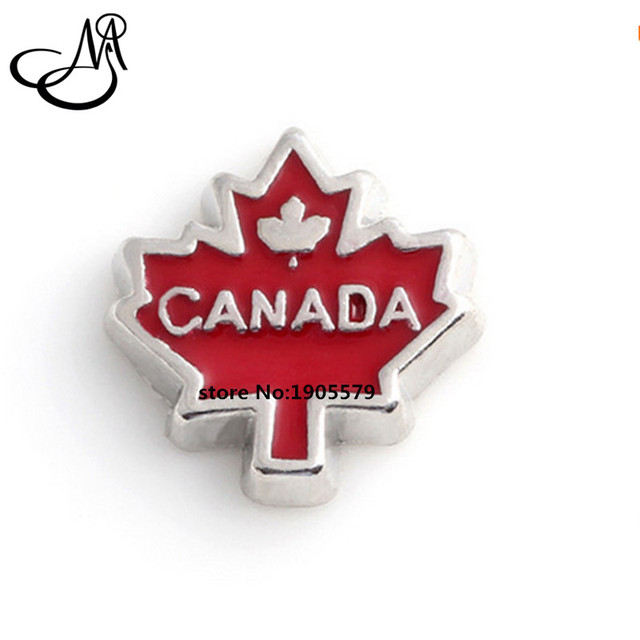 Free Shipping !! (20pcs/lot) 2016 CANADA Maple Leaf Floating Charms For Floating Glass Locket MFC2180