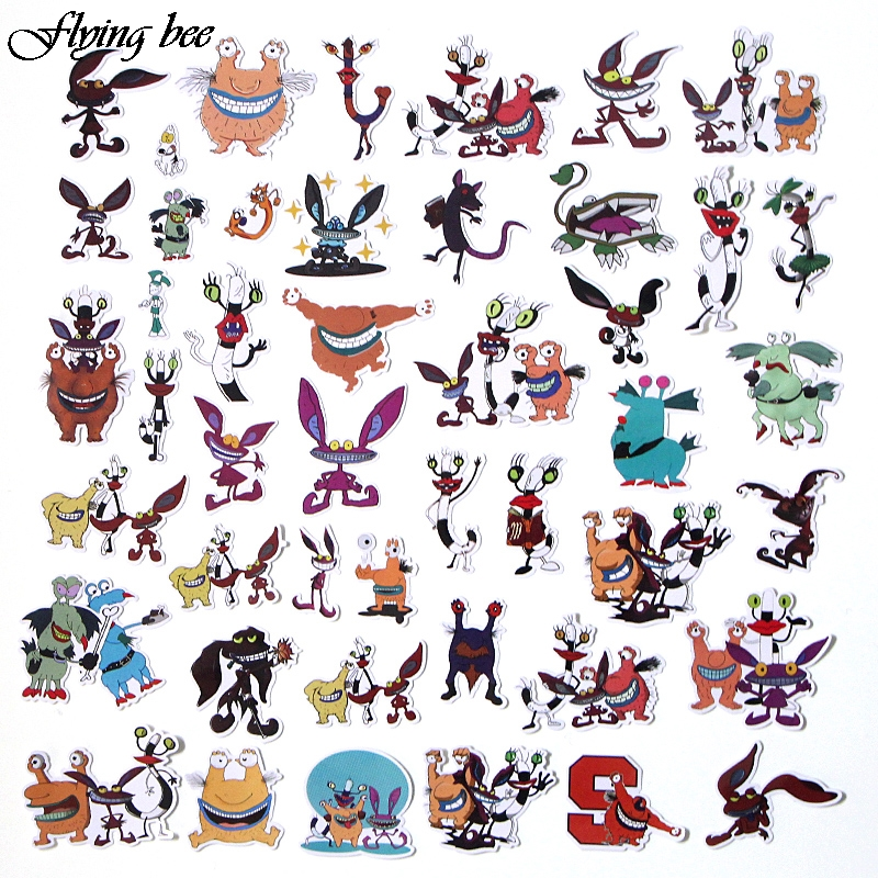 Image 3 - Flyingbee 42 Pcs Aaahh Real Monsters funny Sticker Decals Scrapbooking Stickers for DIY Luggage Laptop phone Car Stickers X0017-in Stickers from Consumer Electronics