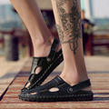 Hot Mens Hollow out Breath Beach shoes Closed toe Strap Slip on Slipper Sandals V8191