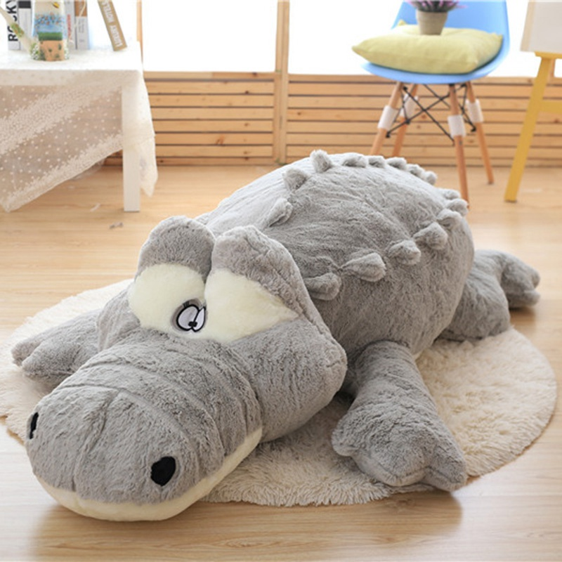 Simulation Crocodile Plush Toy Doll Cushion Cotton Stuffed Animals Large Size Cute Pillow Toys for Girls Kids Gift 60/80/100CM 65cm plush giraffe toy stuffed animal toys doll cushion pillow kids baby friend birthday gift present home deco triver