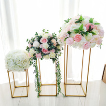 10 pcs /lot gold / white flower stand metal leadership wedding center home festival activities party decoration