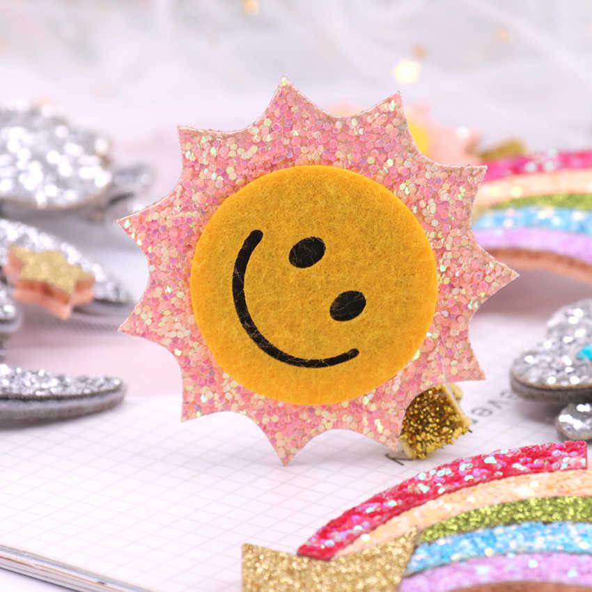 1PC Hairpin Hair Clip Sun Glitter Rainbow Barrettes Girl Hair Accessories Twinkle Paillette Hairpins Fashion Headwear