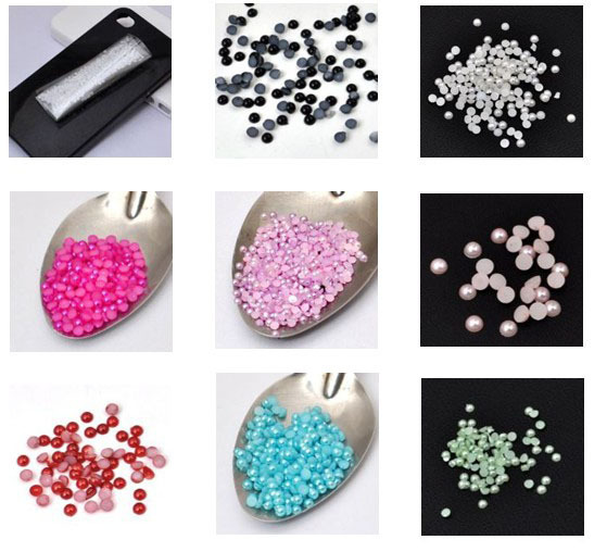 10000PCS Mix colors wholesale 2MM imitation flat back round pearls accessory Jewelry Findings[JCZL DIY Shop]